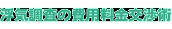 浮気調査の費用値段交渉術→興信所・探偵事務所